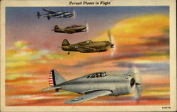 Pursuit Planes In Flight