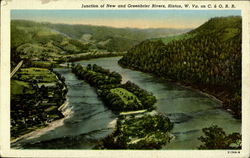 Junction Of New And Greenbrier Rivers Postcard