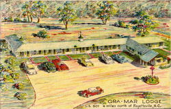 Gra-Mar Lodge, U. S. 301 Postcard