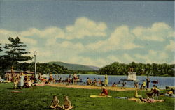 Municipal Beach And Lake Flower, Saranac Lake