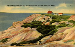 Gay Head Cliffs And Life Saving Station