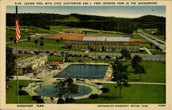 Legion Pool With Civic Auditorium, J. Fred Johnson Park