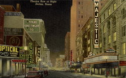 Theatre Row At Night Postcard