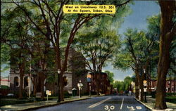 West On Lincolnway Postcard