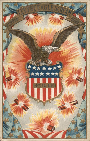 Hurrah!Let the Eagle Scream Hurrah! 4th July - Eagle and crest