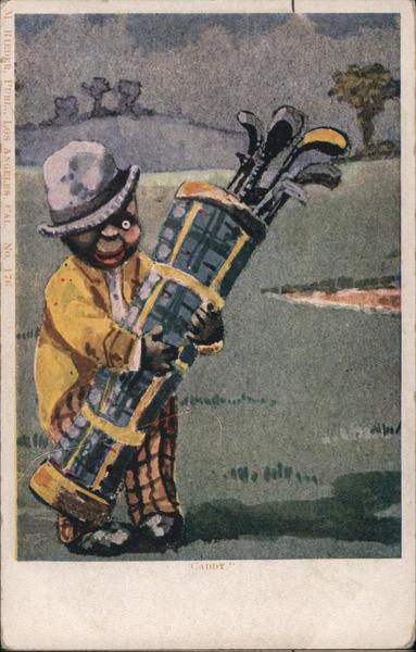 Caddie Carrying Bag of Golf Clubs Black Americana