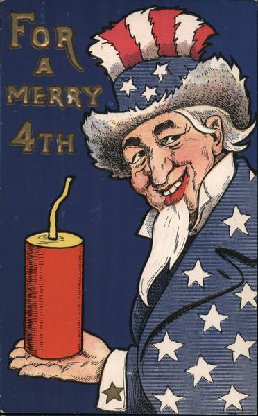 Uncle Sam with a Firecracker 4th of July