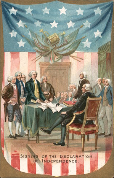 Signing of the Declaration of Independence 4th of July