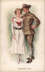 A Man with his Arm Around a Woman Postcard