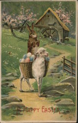 A HAPPY EASTER - Bunny Riding a Sheep