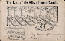 Last of the Whole Damm Family Postcard