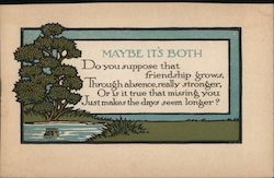 Maybe It's Both - Tree, Pond Postcard