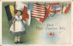 Red Cross - our most popular ally Postcard