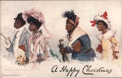Tuck's Oilette Colored Folks 2723 - A Happy Christmas / Church Parade