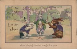 Easter Joys with Three Musical Rabbits