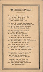 The Kaiser's Prayer Postcard