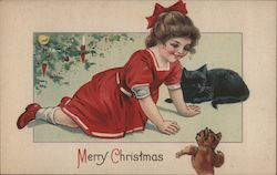 Christmas Children Vintage Postcards & Images