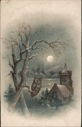 Owl in a Tree on a Moonlit Night - Joseph Johnson's Sons