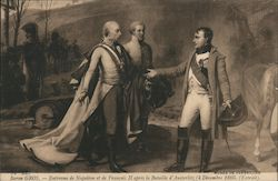 Napoleon in France with Two Other Men Postcard