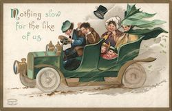 "Family speeding in a green car: ""Nothing slow for the like of us"