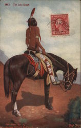 The Last Scout - Native on Horse