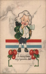 George Washington as a child, w/ hatchet and cherries