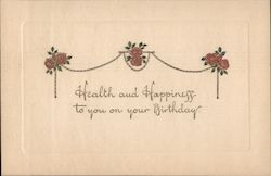 Health and Happiness to you on your Birthday Postcard