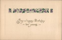 May a happy birthday be young Postcard