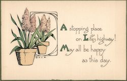 "Woehler - ""A stopping place on Life's highway! May all be happy as this day."" Postcard"