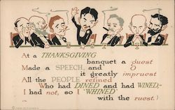Thanksgiving - Multiple Men Sitting at a Bar, Smoking and Drinking