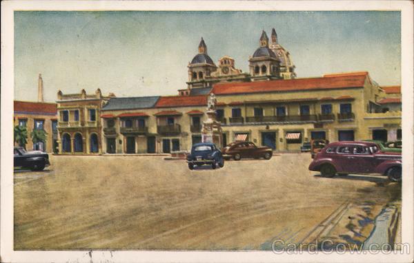 Plaza de la Aduana Cartagena Colombia South America