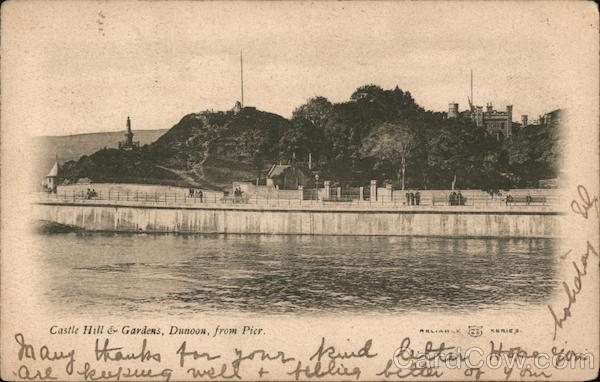 Castle Hill & Gardens, Dunoon, from Pier Scotland