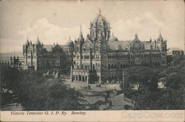 Victoria Terminus G.I.P. Ry. Bombay. Mumbai India