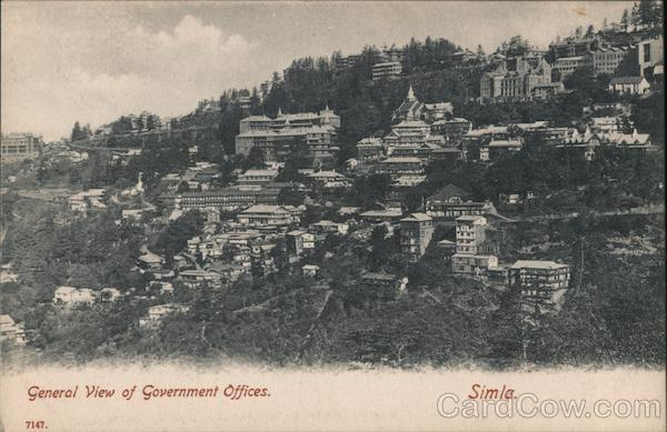 General View of Government Offices Simla India