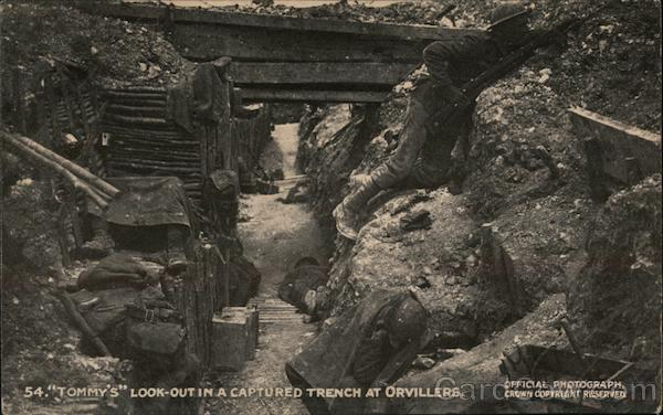 Tommy's Look-out in a captured trench at Orvillers France