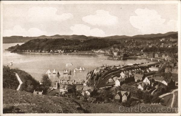 Oban from the South West Scotland