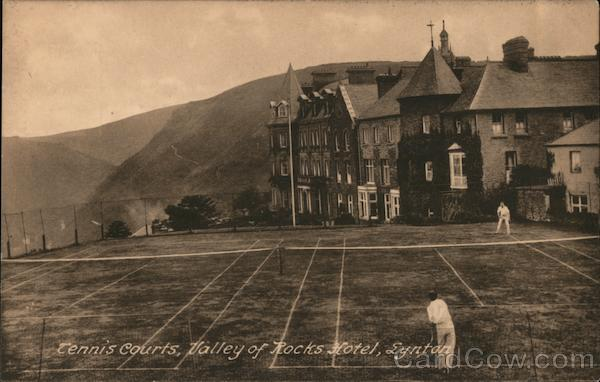 Tennis courts, Valley of Rocks Hotel, Lynton UK Somerset