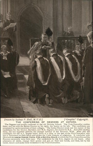 The conferring of degrees at Oxford United Kingdom