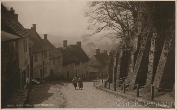 Gold Hill Shaftesbury England Dorset