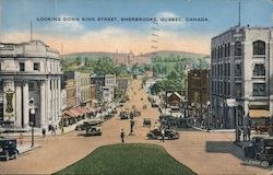 Looking down King street, Sherbrooke, Quebec, Canada Postcard