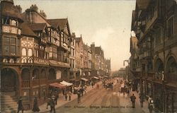 Chester. Bridge Street from the Cross.