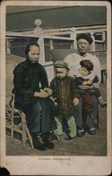 Chinese inmigrants Postcard