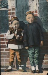 Two Chinese Native Sons Postcard