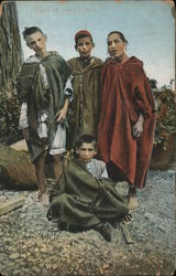 Group of young Moors Postcard