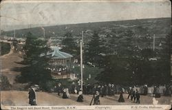 The Reserve and Band Stand Postcard