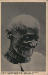 Hundred years old man smiling - Western Portuguese Africa