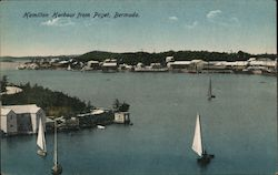 Hamilton harbour from Paget, Bermuda Postcard
