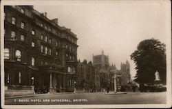 Royal Hotel and Cathedral Postcard
