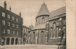 The Temple church and cloisters Postcard