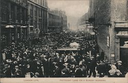 Petticoat Lane on a Sunday Morning Postcard